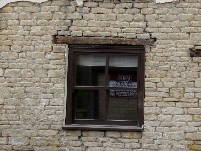 Cracks above window lintel