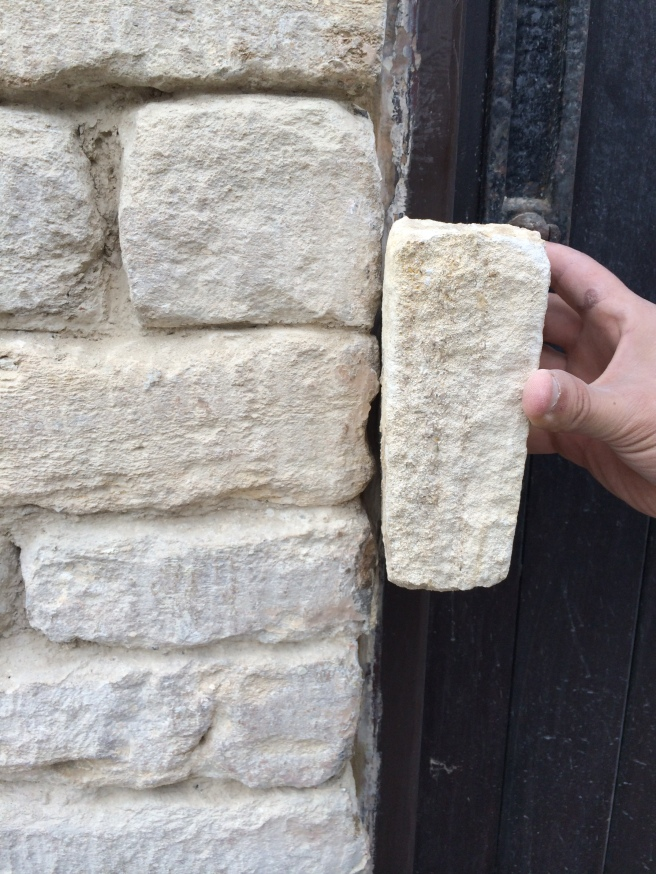 The new stone against our cleaned stone
